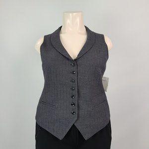 Style & Co. Grey Suit Vest Size 16